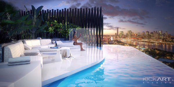 ROOFTOP POOL SOUTHPOINT  |  CLIENT: GHD FOR AJG